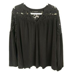 Lane Bryant Top Black Lace Size 14 16 S11